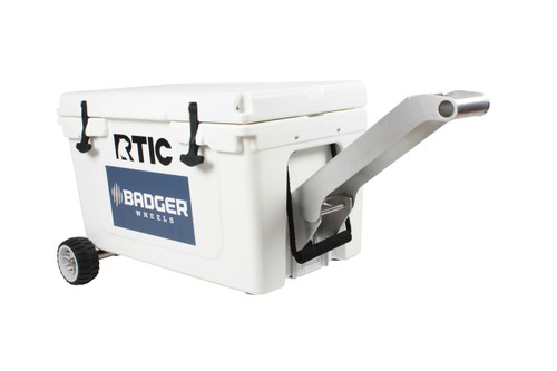 RTIC Standard Wheel Original Badger Wheels™ Kit - Single Axle + Handle/Stand (Fits RTIC 45 & 65 )