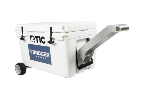 RTIC Standard Wheel Original Badger Wheels™ Kit - Single Axle + Handle/Stand (Fits RTIC 45 & 65 )