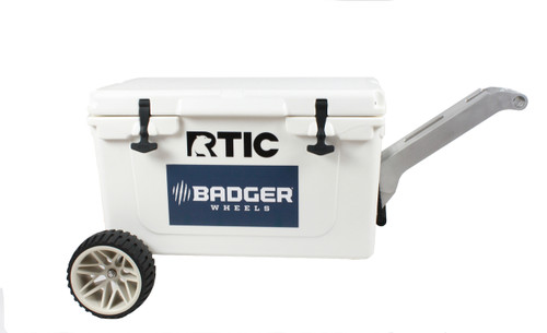 RTIC Large Wheel Original Badger Wheels™ Kit - Single Axle + Handle/Stand (Fits RTIC 45 & 65)