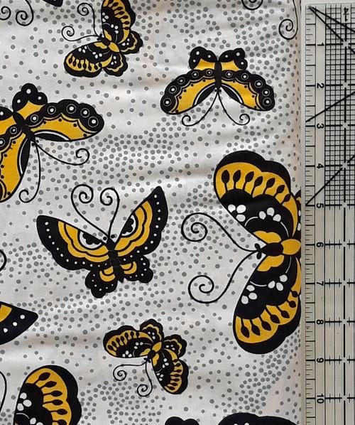 Black & Yellow Butterflies on White