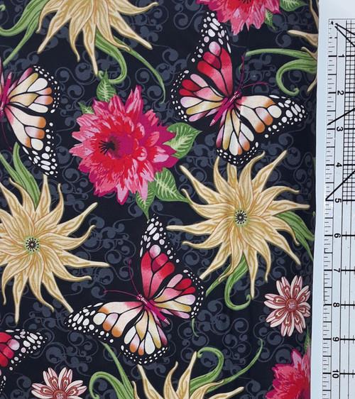 Chrysanthemums and Butterflies