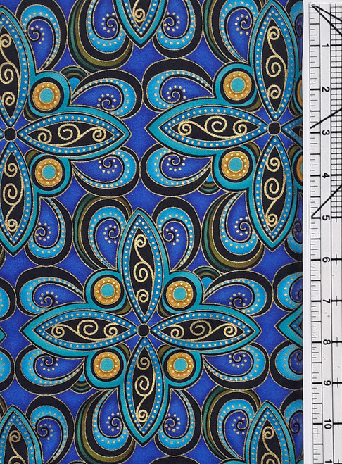 Turquoise, Royal and Black Plume