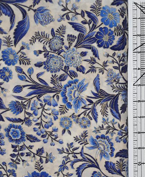 Dutch Blue Floral on Cream