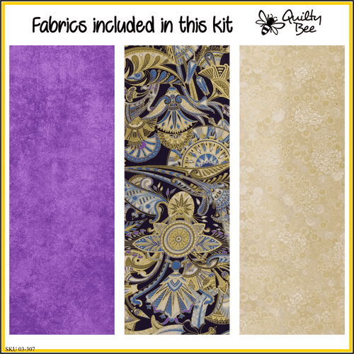 KT-03-307 quilt kit with pattern and fabric