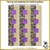 KT-03-307 Quilt kit with fabric and pattern Egyptian theme print in purples, bright blue, sage green and metallic gold.  Skill level: Easy.