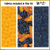 KT-03-315  Quilt kit with fabric and pattern Colorful yet elegant butterflies float on a background of blue swirls and black.  Skill level: Easy.