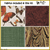 KT-04-409  Quilt kit with fabric and pattern Earthy hued butterflies grace a pale cream background and has delicate gold metallic outlines.