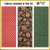 KT-03-327 Quilt kit with fabric and pattern.  Elegant floral motif in deep coral, burgundy, terra cotta and greens with gold metallic outlines on a black background.  Skill level: Easy.