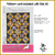 KT-19-319 Quilt kit with fabric and pattern.   Rich chocolate brown, goldenrod, creams and electric blue create an elegant floral pattern.