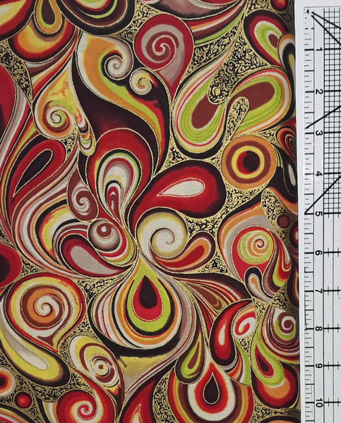 Red & Lime Swirls