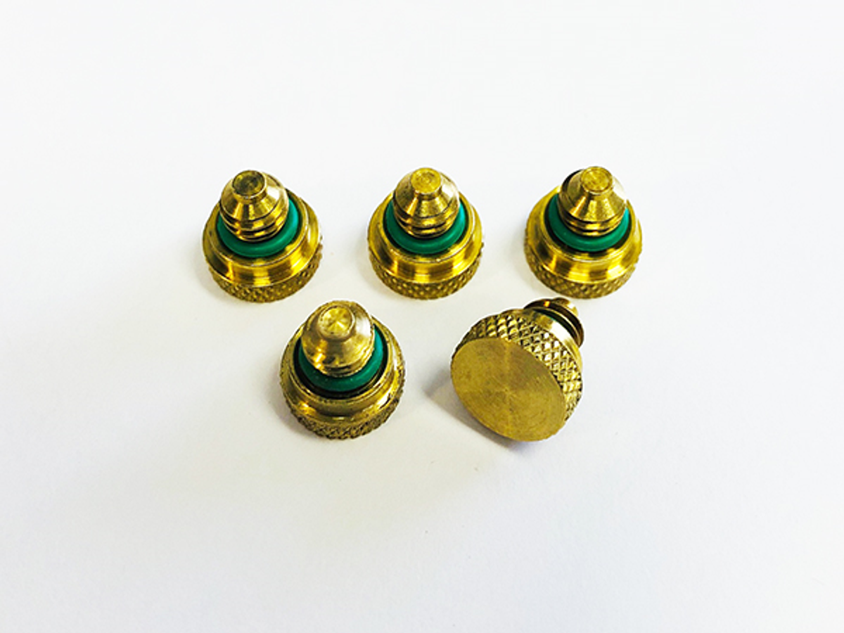 Brass Nozzle Plugs: 5-pack