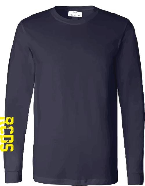 Splatter Navy Long Sleeve Shirt - Adult