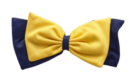 PomBow - Navy & Yellow Gold