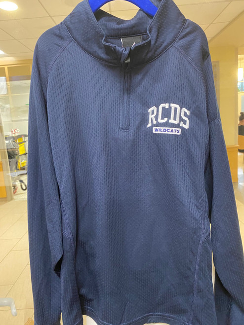 Navy 1/4 Zip Pullover with RCDS Wildcats Embroidery
