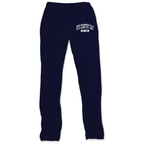 Open Bottom Navy Sweatpants - Adult