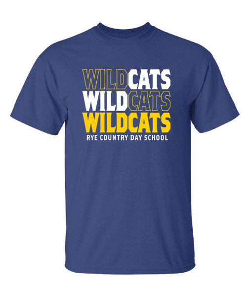 Metro Blue Wildcats Short Sleeve Tee - Adult