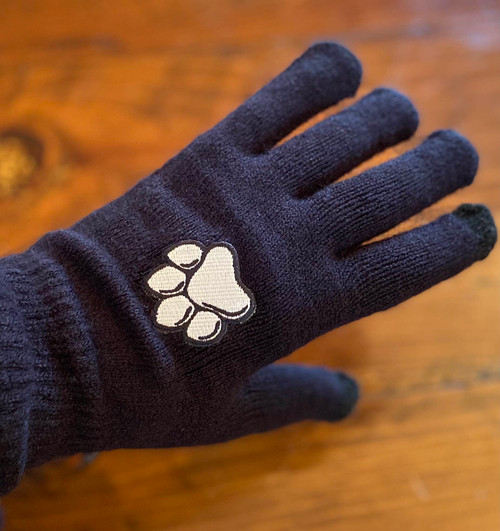 Smartphone Magic Knit Gloves with Paw Logo