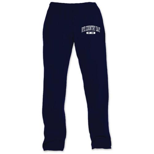 Open Bottom Navy Sweatpants - Youth