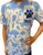 Splatter RCDS Blue and White Tie-Dye Short Sleeve Tee - Youth