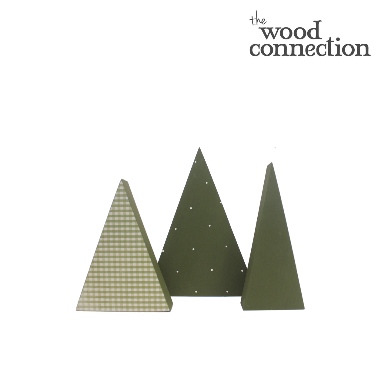 Christmas Triangle Trees Trio The Wood Connection
