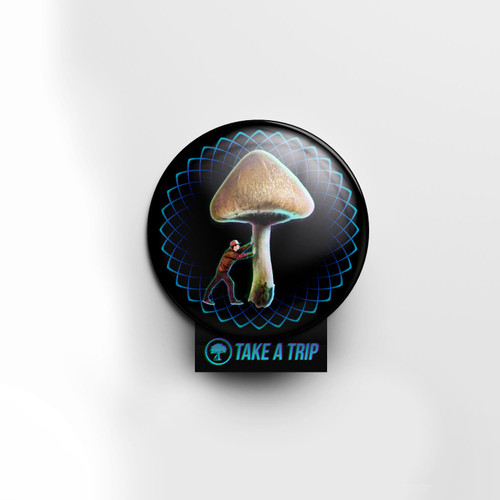 Push Shrooms Pin