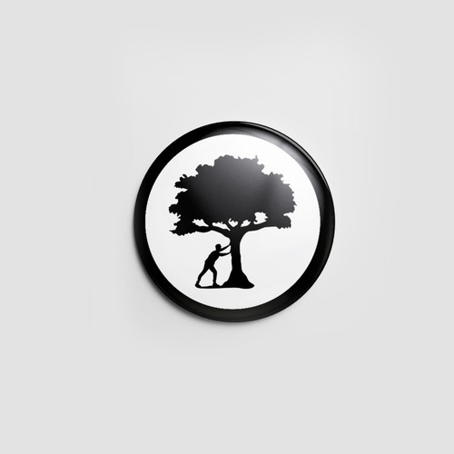 Push Trees Pin (Glow in the dark)