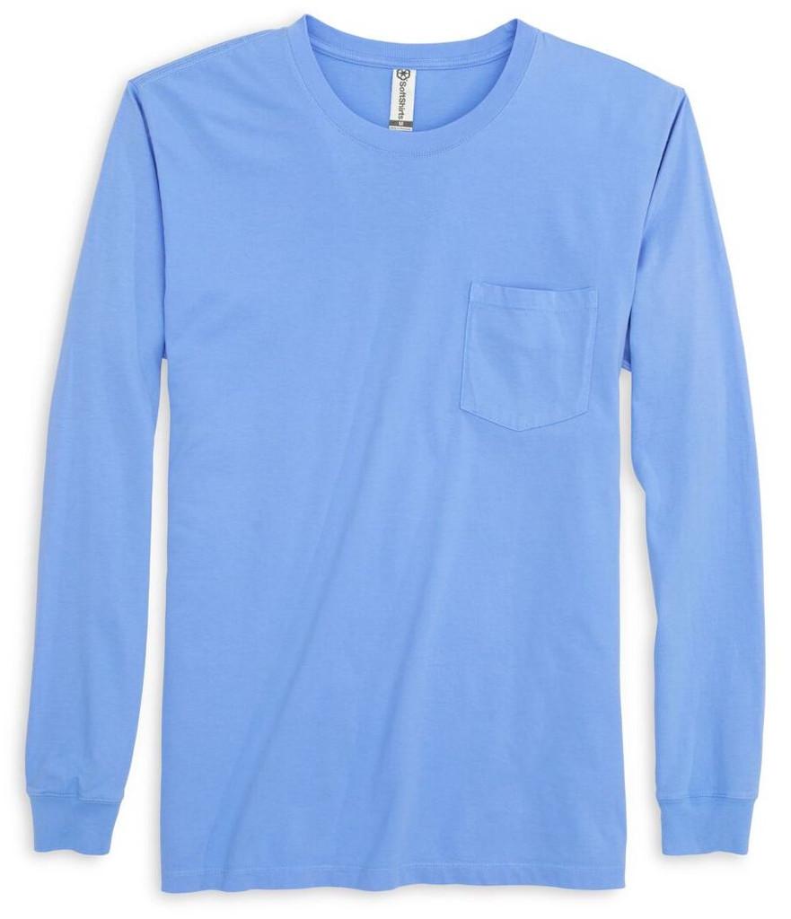230 Garment Dyed Longsleeve Pocket Tee