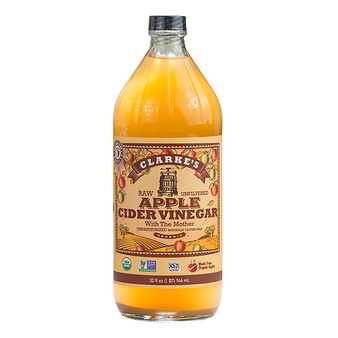 Clarke's, Organic Raw Apple Cider Vinegar 32-oz. bottle.
