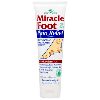 Miracle Foot Pain Relief Cream 4.5-oz. tube.