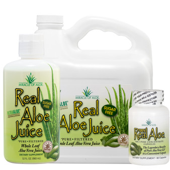 Real Aloe Juice Family of products.