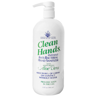Clean Hands Antibacterial Hand Sanitizer Gel 32-oz. bottle