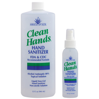 Clean Hands Antibacterial Hand Sanitizer 36 oz. set.