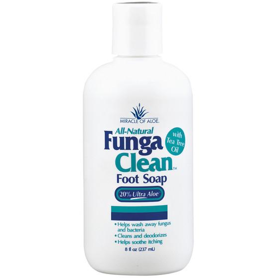 Funga Clean Liquid Foot Soap 8 ounce bottle.