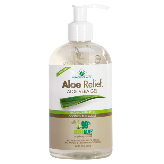 Aloe Relief Clear Gel - 12 oz. with Pump