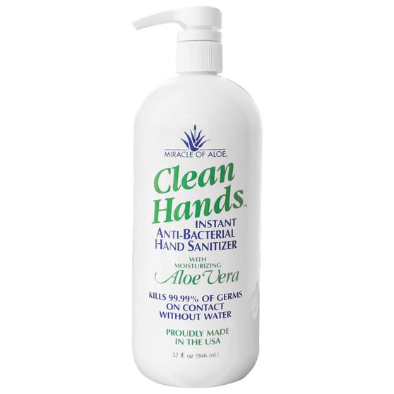 Clean Hands Antibacterial Hand Sanitizer Gel 32-oz. bottle