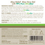 Aloe Relief Clear Gel - 12 oz. Back Panel
