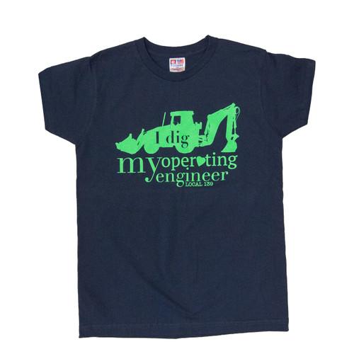 """I Dig my Operating Engineer"" Women's V-Neck T-Shirt"