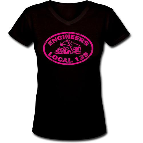 Pink Logo V-Neck Shirt