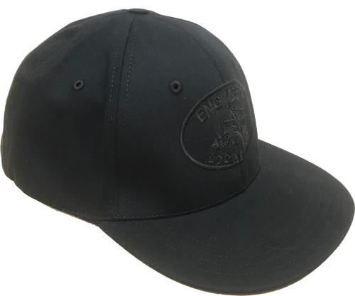 "Flexfit ""fitted"" Black Logo Hat"