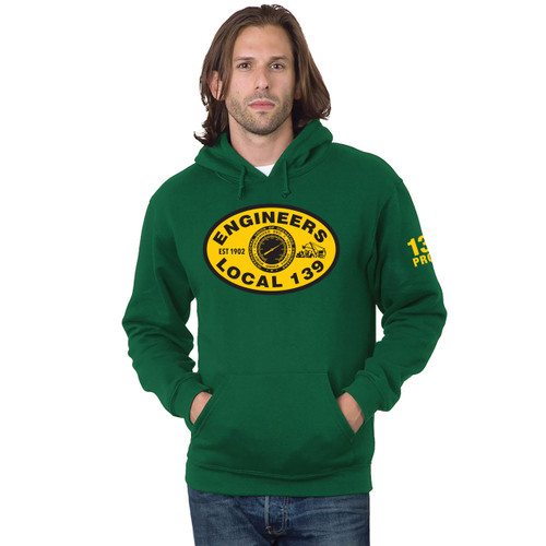 Green Hoodie with NEW Gold Logo
