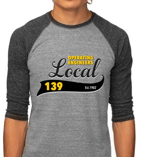 IUOE Local 139 Unisex Raglan Shirt