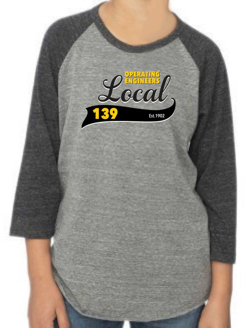 IUOE Local 139 Youth Raglan Shirt
