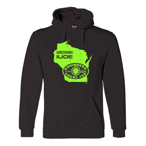 IUOE Wisconsin Black Hoodie