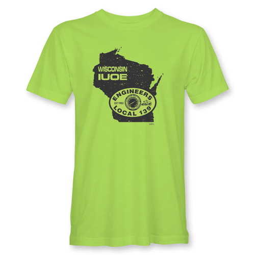 IUOE WI Short Sleeve Safety Green Tee