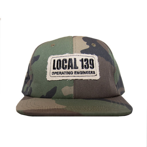 Local 139 New Camo Hat With Patch