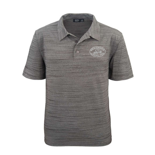 NEW Polo with Embroidered Logo - Grey