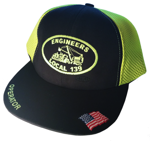 Safety Green Mesh Back Operator Hat