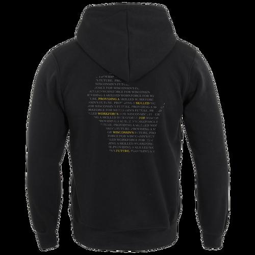 Typographical Hooded Sweatshirt