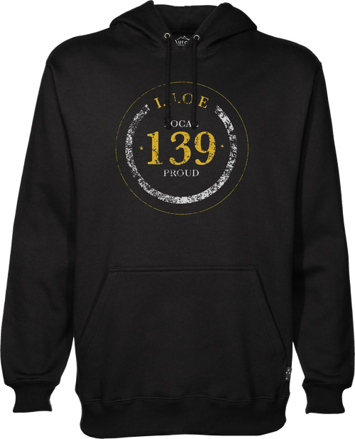 Typographical Hooded Sweatshirt