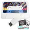 Main hero image retro mixtape cassette usb flash drive gift for loved one